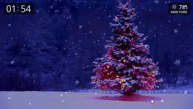 Christmas Tree In Snow Live Wallpapers